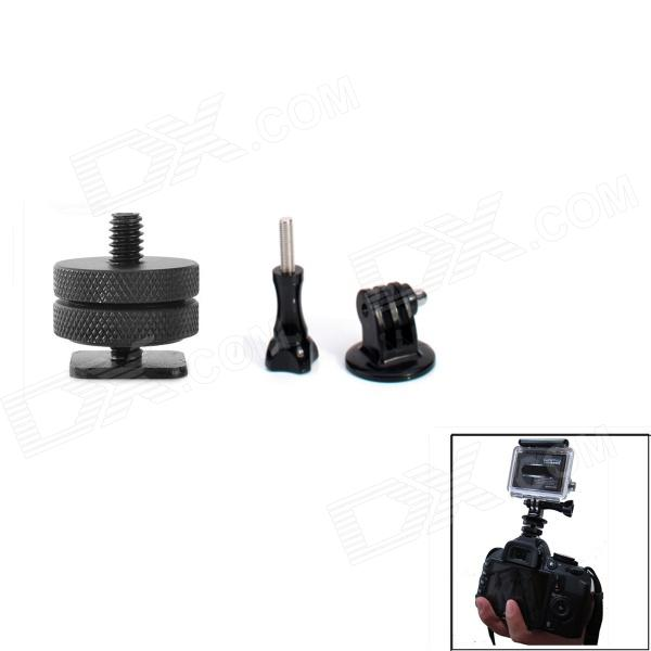 JUSTONE J031 Hot Shoe Connecting + Mount Adapter + Screw for Gopro Hero 4/ 2 /3 / 3+/SJ4000 - Black