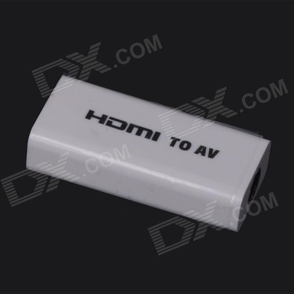 ZnDiy-BRY HDMI Female to AV Converter Card Adapter w/ HDMI Cable & AV Cable for FPV / PAL - White