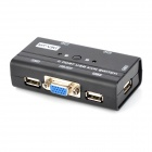 MT-260KL 2-port USB Manual KVM Switch w/ Indicator - Black