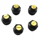 Adjustable Mini Plastic + Copper Spray Heads Nozzles - Black + Gold (5 PCS)