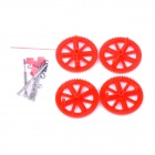 PANNOVO Parrot AR Drone 2.0 Quadcopter Motor Pinion Gear + Shaft Set - Red