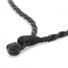 Fenlu GG-030 Men's Strand Chain Obsidian Kwan Kung Type Pendant Necklace - Black (30cm)