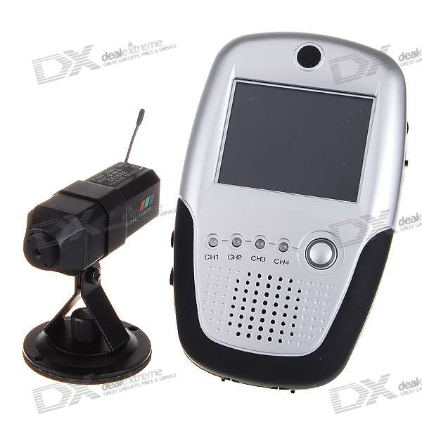 "2.4GHz Wireless Security Palm Baby Monitor Camera + 2.4"" LCD Receiver"