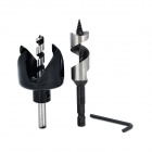 22mm/54mm Drill Bit Tapper Tool w/ Hex Wrench - Black + Silver
