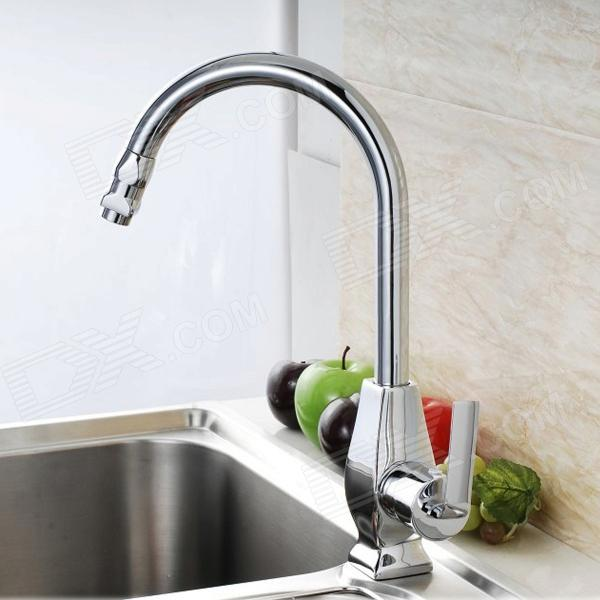YDL-F-0558 Chrome-plated Brass Kitchen Sink Faucet - Silver kitchen chrome plated brass faucet single handle pull out pull down sink mixer hot and cold tap modern design