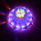 Little Sun 48 + 24-LED RGBY Four Color Light Voice-Activated / Auto Rotating Party Stage Lamp
