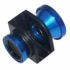 3-in-1 Macro + Wide Angle + Fisheye Lens for IPHONE 4 / 4S - Deep Blue + Black