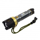 WaLangTing Cree XM-L T6 1-LED 500lm 3-Mode White Tactical Flashlight  - Grey (1 x 18650 / 1 x 26650)