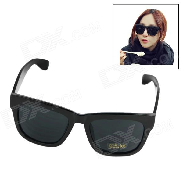 UV400 Protection Resin Lens Sunglasses for Women - Black cy8150 fashion women s resin uv400 protection sunglasses leopard pattern frame