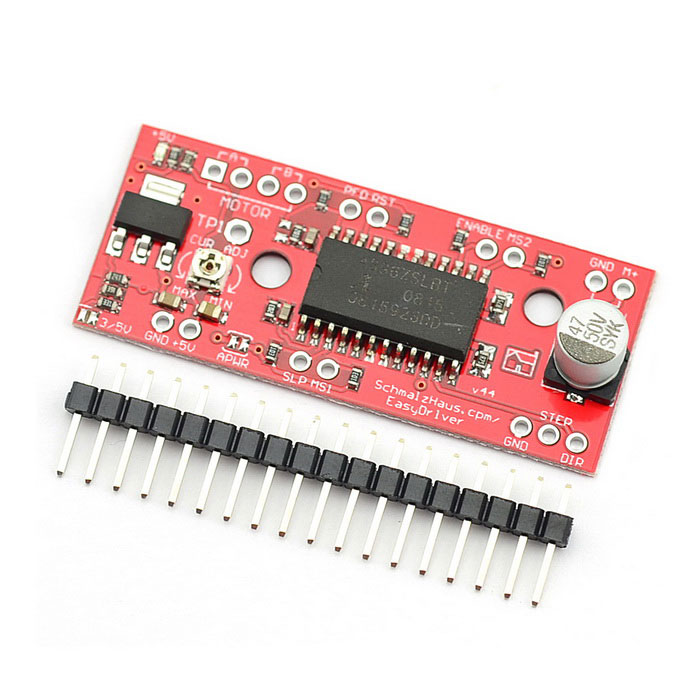 MaiTech A3967 Easy Driver Stepper Motor Driver V44 Development Board - Red lson 5v 4 phase stepper motor learning package w driver board multicolored