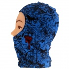 Outdoor Cycling  UV Protection Polyamide Lycra Mask w/ Neck Protection - Blue