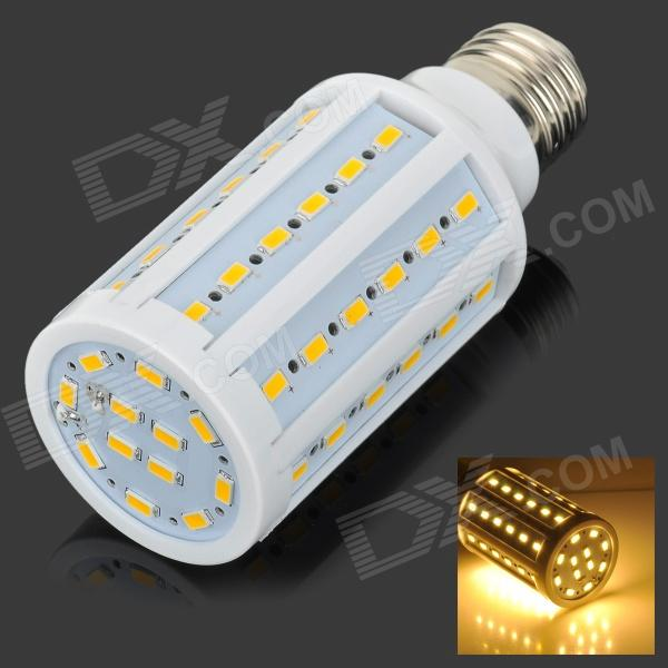 E27 13W Warm White 60-5730 SMD LED Corn Lamp - White + Silver Grey (AC 220V) e27 10w 950lm 6500k 56 smd 5730 led white corn lamp white silvery grey ac 220 240v