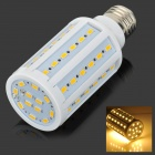 E27 13W Warm White 60-5730 SMD LED Corn Lamp - White + Silver Grey (AC 220V)