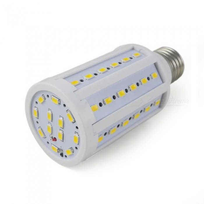 E27 12W 900LM 2700K Warm White 50-5730 SMD LED Corn Lamp - White + Silver Grey (AC 220V) e27 10w 950lm 6500k 56 smd 5730 led white corn lamp white silvery grey ac 220 240v