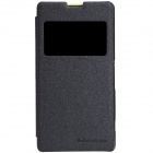 NILLKIN Protective PU Leather + PC Case for Sony Xperia Z1 Compact (M51W) - Black