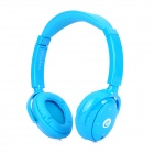 Syllable G01-003 Fashion Bluetooth V3.0 Music Headband Headphones w/ Microphone - Blue