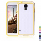 Colorful TPU + PC Bumper Frame Case Border Cover for Samsung Galaxy S5 - Yellow