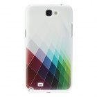 Kinston Beautiful Colorful Grid Pattern Hard Case for Samsung Galaxy Note 2 N7100