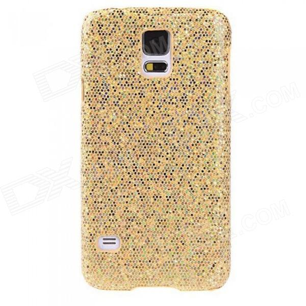 Glitter Bling PC Back Cover Shell for Samsung Galaxy S5 - Yellow replacement back camera circle lens for samsung galaxy s5 g900 black