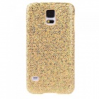 Glitter Bling PC Back Cover Shell for Samsung Galaxy S5 - Yellow