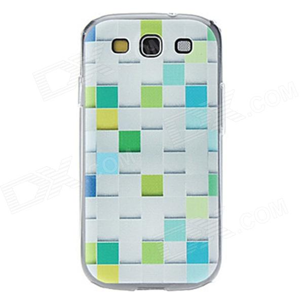 Kinston Grid Pattern Hard Case for Samsung Galaxy S3 i9300 - White + Green сотовый телефон bq bq 5057 strike 2 gold matted