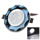 1W 30LM 6500K 1-LED White Ceiling Lamp / Spotlight - Black + White (AC 85~265V)