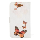 Kinston Butterfly Pattern PU Leather Cover Pouches for Samsung Galaxy Note 2 N7100