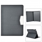 Stylish Protective Flip Open PU Case w/ Stand / Auto Sleep for IPAD AIR - Black
