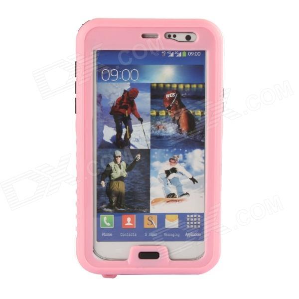 Protective Waterproof Case for Samsung Galaxy Note 3 - Pink + Transparent