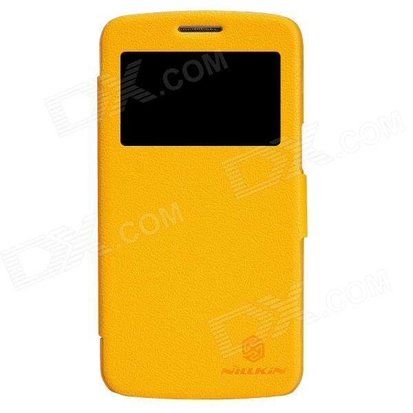 NILLKIN Protective PU Leather + PC Case Cover for Samsung Galaxy Grand 2 G7106 - Yellow nillkin protective pu leather pc case cover for samsung galaxy alpha g850f black