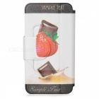 Kinston Strawberry Chocolate Drawing Pattern PU Leather Cover Pouches for Samsung Galaxy S3 i9300