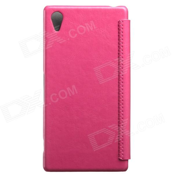 KALAIDENG Protective PU Leather Case Cover for SONY XPERIA Z2 - Peach чехол книжка lazarr protective case для sony xperia z2 d6503 из экокожи black