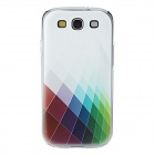 Kinston Beautiful Colorful Grid Pattern Hard Case for Samsung Galaxy S3 i9300