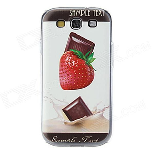Kinston Strawberry and Chocolate Pattern Hard Case for Samsung Galaxy S3 i9300 kinston colorful flowers and butterflies pattern plastic protective case for samsung galaxy s3 i9300