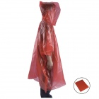 AceCamp Convenient Portable Emergency PE Rain Poncho - Red