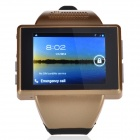 "AN1 Capacitive Touch Screen Android 4.1 Watch Phone w/ 2.0"" / 512MB RAM, 4GB ROM - Golden + Black"