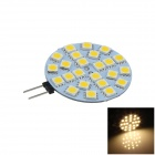 G4 4W 400lm 24 x SMD 5050 LED Warm White Non-polar Car Instrument Light / Reading Lamp (12V)