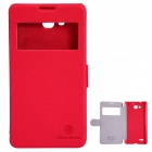 NILLKIN Protective PU Leather + PC Case for HUAWEI Honor 3X (G750) - Red