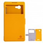 NILLKIN Protective PU Leather + PC Case for Lenovo A880 - Yellow