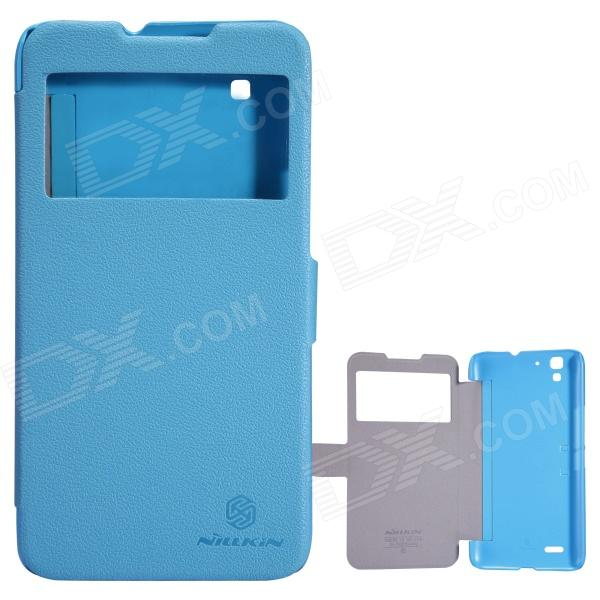 NILLKIN Protective PU Leather + PC para 5S Memo ZTE - Azul