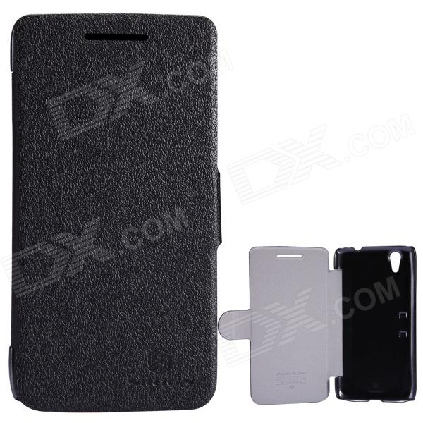 NILLKIN Protective PU Leather + PC Case for Lenovo S960 (VIBE X) - Black