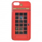 Telephone Booth Pattern Protective PVC Back Case for IPHONE 5S / 5 - Black + Red + Translucent