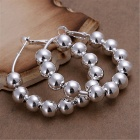 Beads Silver Plated Earrings - Silver