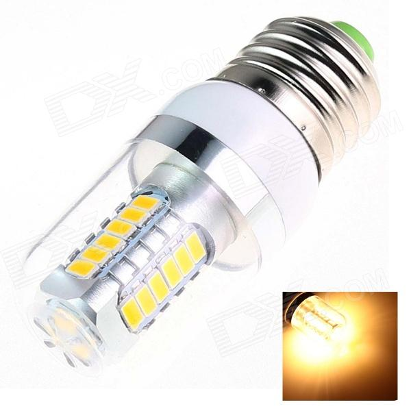 DF23 E27 7W 220lm 3000K 27-SMD 5630 LED Warm White Light Lamp - White + Silver  (AC 85~265V) катушка lucky john anira spin 7 3000 fd