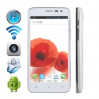 "CUBOT BOBBY Dual-Core Android 4.2 WCDMA Bar Phone w/ 5.0"" Screen, Wi-Fi and GPS - White"
