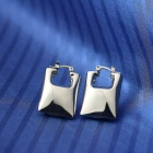 EQute Stainless Steel Lock Shaped Earring for Women