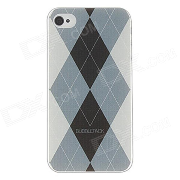 Kinston kst00045 Grid Pattern Protective Plastic Hard Back Case for IPHONE 4 / 4S - White + Black kinston kst00045 grid pattern protective plastic hard back case for iphone 4 4s white black