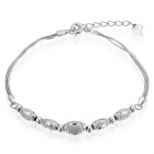 EQute S925 Sterling Silver Round Bead Stretch Bracelet