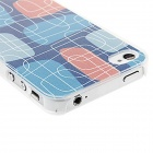 Kinston kst00044 Maze Pattern Protective Plastic Hard Back Case for IPHONE 4 / 4S - Blue + Red