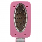 L637 E2XQ 3W 300lm 3000K 15-LED White 3-Mode Clip-On Foldable Desk Lamp - Pink (AC 100~240V)